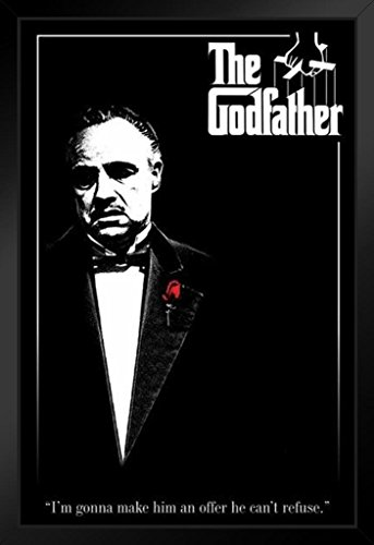 Pyramid America The Godfather Red Rose Offer He Cant Refuse Movie Framed Poster 14x20 inch