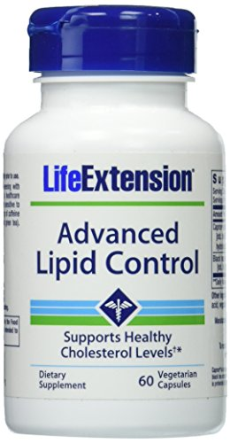 Life Extension Advanced Lipid Control Vegetarian Capsules, 60 Count