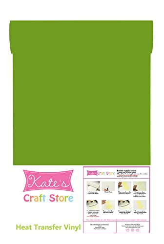 Heat Transfer Vinyl HTV/Iron-on 12 Inches by 3 Feet Roll (Green Apple) -