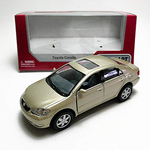 0aafc3b07 Amazon.com: KiNSMART 1:36 Die-Cast Toyota Corolla Altis E120 Car Gold Model  with Box Collection Christmas New Gift: Toys & Games