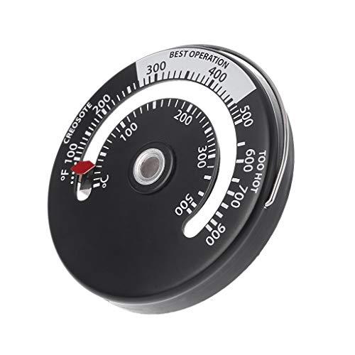 huanban072 Magnetic Stove Flue Pipe Thermometer Multi Fuel Woodstove Woodburner Stove Pipe Hygrometer Temperature