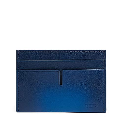 - TUMI - Nassau Money Clip Card Case Wallet with RFID ID Lock for Men - Blue Burnished