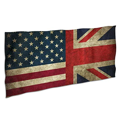Beach Towels Us and UK Flags Vintage Wallpaper Microfibre Pool Beach Travel Towels Quick Dry Absorbent Lightweight Sand Free Beach Blanket for Sunbathing Camping 37