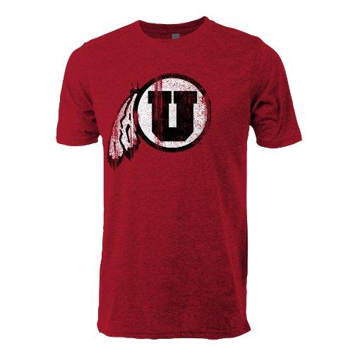 NCAA Utah Utes Vintage Sheer Short Sleeve Tee, Medium, Antique Cherry Red (Utah Antique)