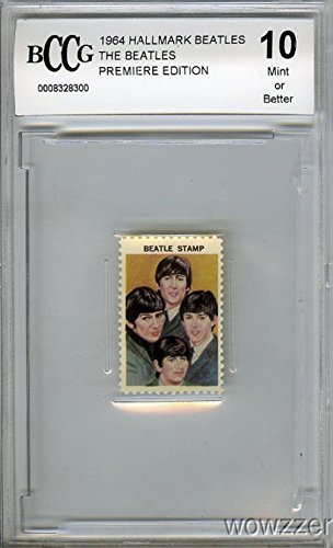 1964 Hallmark BEATLES Group Stamp BECKET 10 MINT Vintage Rare! Shipped in a BCW Acrylic Protective Top Loader!Features John Lennon, Paul McCartney,George Harrison and Ringo Starr! Over 50 Years Old! from Wowzzer
