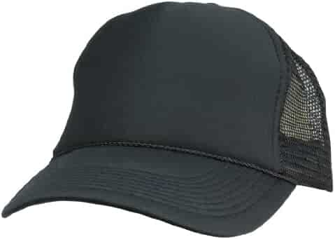 f77c93f25b1 Trucker Cap Mesh Hat with Solid Colors and Adjustable Strap and Small Braid