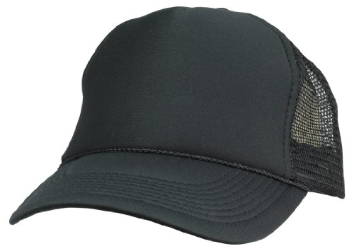 - DALIX Plain Trucker Hat in Black