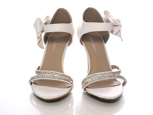 Damen Pumps Brautschuhe Weiß # 8382-32