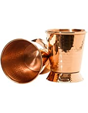 Sertodo Copper Derby Mint Julep Cup, 12 Fluid Ounces, Hammered Copper