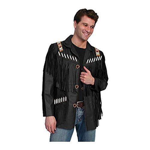 [スカーリー] メンズ ジャケット&ブルゾン Fringe Leather Jacket 902 [並行輸入品] B07DHN2YX1