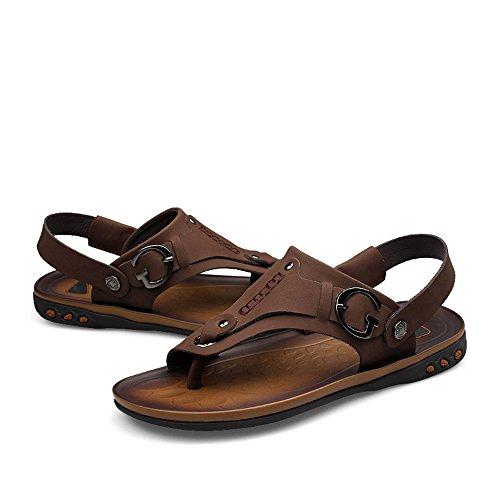 con posteriore 39 piatto Color a sandali uomo Dimensione Fangs 2018 Marrone Giallo uomo Tacco EU da Scarpe spillo cinturino da 6PqnOwT8
