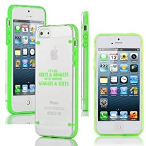 Apple iPhone 6 Plus / 6s Plus Ultra Thin Transparent Clear Hard TPU Case Cover All Giggles (Green)