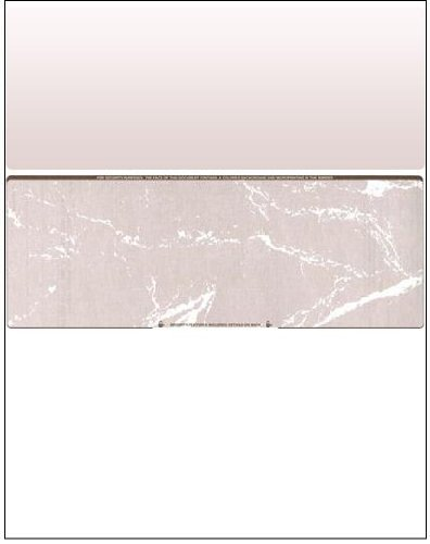 Business Voucher Check Stock - Versacheck Refills - 2500 Sheets, Check in Middle, Brown Marble