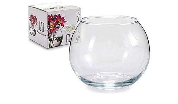 Takestop/® Ampolla pecera de cristal transparente 16/cm Acuario para peces pescado rojo Centro Bandeja Jarr/ón Puerta Flor Flores vela