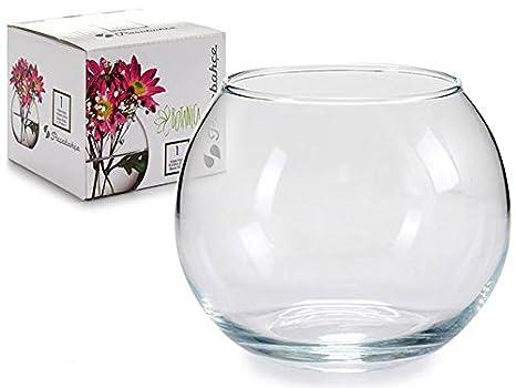 Takestop® Ampolla pecera de cristal transparente 100 ml 9,5 x 9,5 x 8 cm Acuario para peces pescado rojo Centro Bandeja Jarrón Puerta Flor Flores vela: ...
