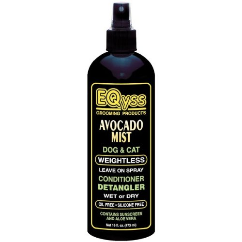 EQyss Avocado Mist Dog and Cat Conditioner and Detangler, 16-Ounce, My Pet Supplies