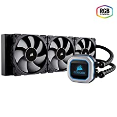The CORSAIR Hydro Series H150i PRO is an all-in-one RGB liquid CPU cooler with a 360mm radiator built for low-noise cooling performance and bold styling with an RGB LED pump head. Three included 120mm ML Series magnetic levitation PWM fans pr...