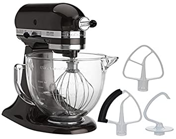 Delighful Kitchenaid Stand Mixer With Glass Bowl Cafe Black Storm And Inspiration Decorating