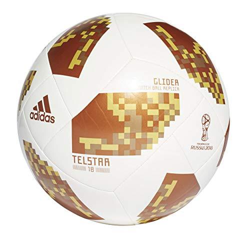 Adidas Mundial de Fútbol de Planeador–Balón de fútbol (ce8097), White/Gold/Gold, 4