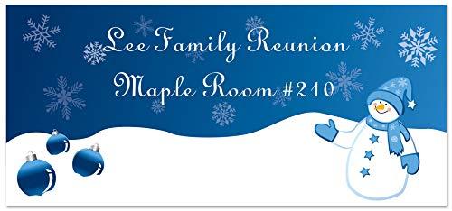 Snowman and Ornaments Custom Vinyl Banner
