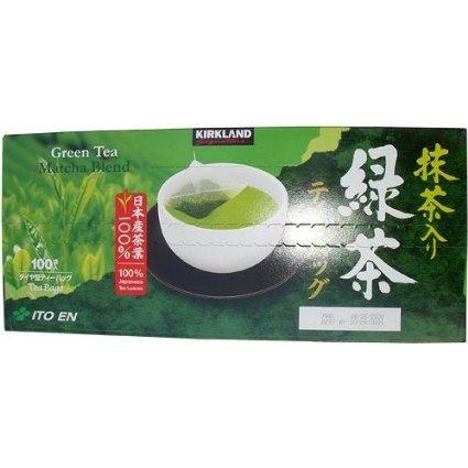 Kirkland Signature Ito En Matcha Blend (Green Tea), 100% Japanese Green Tea Leaves, Box of 100 Tea Bags (Pack of 2 Boxes) by Kirkland Signature