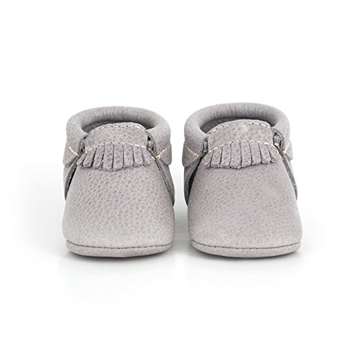 Leather Sole Stitch (Freshly Picked Soft Sole Leather Baby Moccasins Pebble Size 1)