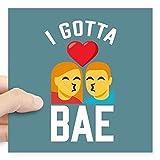 Where Can I Buy Emoji Stickers CafePress Emoji I Gotta Bae Square Sticker 3 X 3 Square Bumper Sticker Car Decal, 3