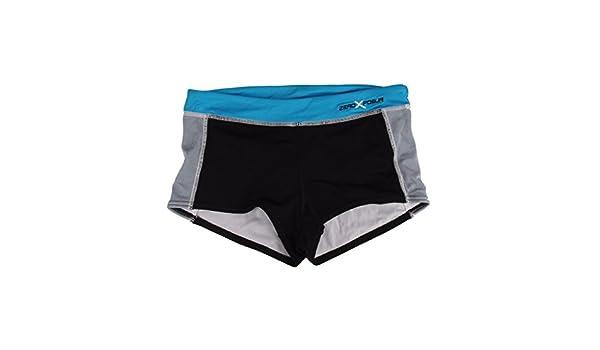 37999b0ad3c16 Amazon.com: ZeroXposur Women's Swimwear Shortini Spandex Bottoms (16,  Azure): Clothing