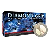 Microflex Diamond Grip Powder-Free Latex Exam Gloves, Extra Large, 100 Gloves per Box, 10 Boxes per Case