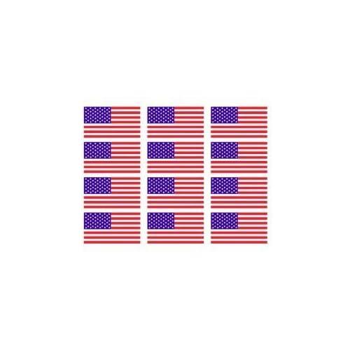 "12 x American Flag 2"" Helmet USA Vinyl Sticker Decal for cheap"