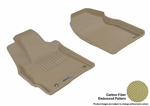 3D MAXpider All-Weather Floor Mats for Mazda CX-7 2007-2012 Custom Fit Car Floor Liners, Kagu Series (1st Row, Tan)