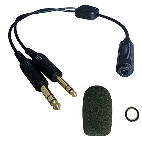 General Aviation Headset (UFQ H-GA Helicopter to General Aviation Headset Adapter adapt your helicopter headset to a general aviation free with super high density sponge O ring which suit for David Clark, Avcomm,ASA and ect on)