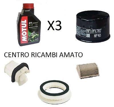 Motul Kit compuesto por filtro de aceite + 3 filtros aire + 3 litros de aceite