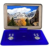 """Milanix 15.4"""" HD Portable DVD Player, CD Player, Swivel Angle Adjustable Display Screen, USB/SD Card Memory Readers, and Built-in Rechargeable Battery with Remote Control, And Subtitles (optional)"""