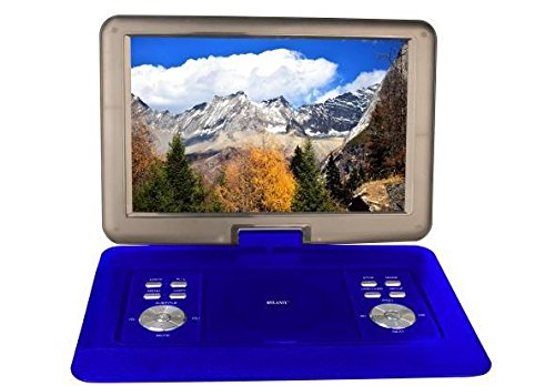 "Milanix 15.4"" HD Portable DVD Player, CD Player, Swivel Angl"