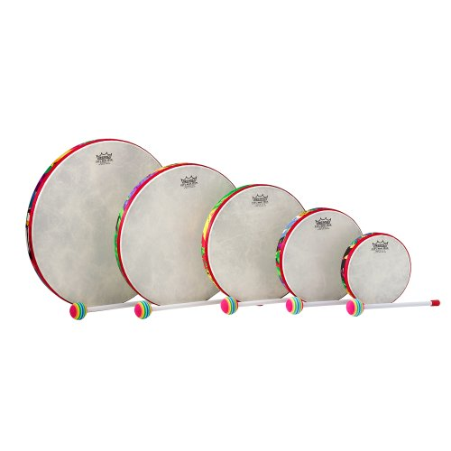Remo KD-0500-01 Kids Percussion Frame Drum Pack - Fabric Rain Forest