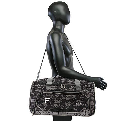 41EIjjPZQ L - Fila Source Sm Travel Gym Sport Duffel Bag, Black Digi Camo