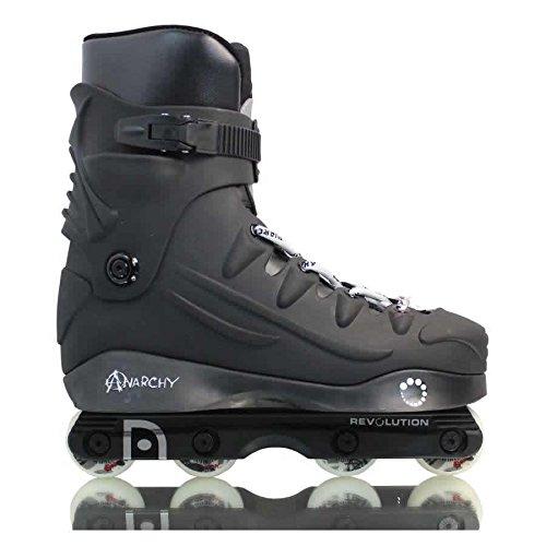 (HOLDALL Anarchy Revolution Black/Silver Inline Skates)