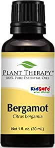 Plant Therapy Bergamot Essential Oil. 100% Pure, Undiluted, Therapeutic Grade. 30 ml (1 oz).