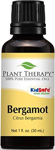 Plant Therapy Bergamot Essential Oil. 100% Pure, Undiluted, Therapeutic Grade. 30 ml (1 oz).