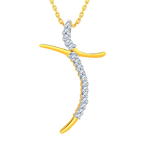 Giantti 14carats Diamant Pendentif Femme Collier (0,08ct, VS/Si-clarity, Gh-colour)