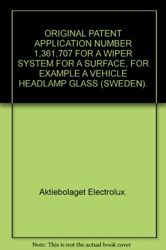 Headlamp System (ORIGINAL PATENT APPLICATION NUMBER 1,361,707 FOR A WIPER SYSTEM FOR A SURFACE, FOR EXAMPLE A VEHICLE HEADLAMP GLASS (SWEDEN).)