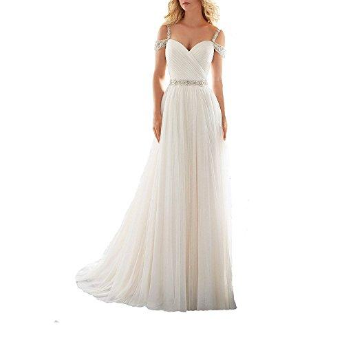 Kleid weiß ABaoWedding elfenbeinfarben weiß Damen 5PfZ8Uqwax