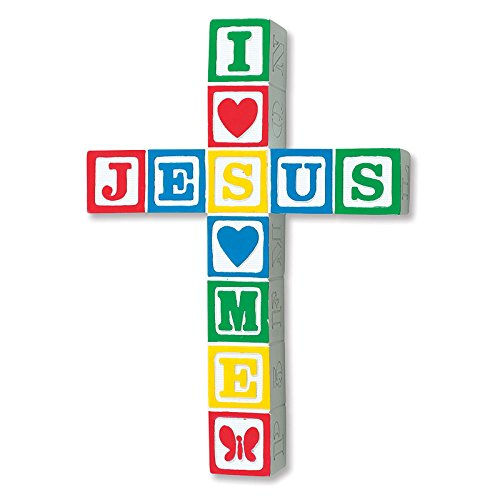 Abbey Gift I Love Jesus Cross-Primary Color