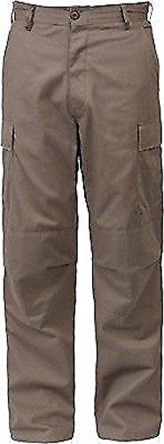 Khaki Solid Military Rip-Stop BDU Cargo Bottoms Fatigue Trouser Pants ()