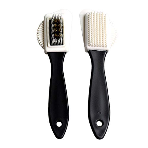 Daclay S-type Suede Cleaning Brush Double-sided Shoe Brush Cleaning Decontamination Hair Brush Professional Care Shoe Brush (15.5cm(3.5+1) cm)