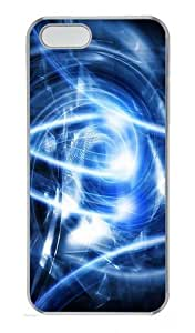 Abstract Blue Art Polycarbonate Plastic Hard Case for iPhone 5S and iPhone 5 Transparent