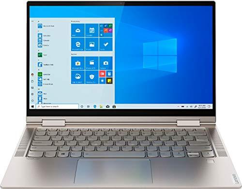 "2020 Lenovo Yoga C740 2-in-1 14"" FHD Touchscreen Laptop Computer, 10th Gen Intel Quad-Core i5-10210U up to 4.2GHz (Beats i7-7500U), 8GB DDR4 RAM, 256GB PCIe SSD, Mica, Windows 10, BROAGE Mouse Pad"