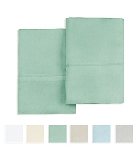 400 Thread Count 100% Cotton Pillow cases, Sage Standard Siz