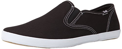 Keds Champion Canvas Sneaker (Keds Men's Champion Original Canvas Slip-On Sneaker,Black,11 M US)